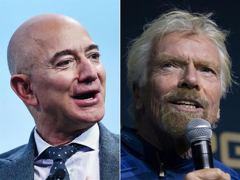 Milyarderlerin uzay savaşı Richard Branson-Jeff Bezosu geçecek